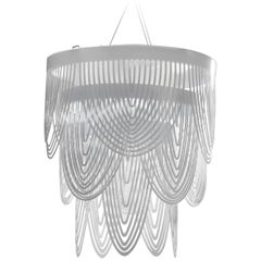Slamp Ceremony Small Pendant Light in White by Bruno Rainaldi