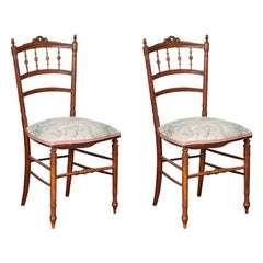 French Occasional Chairs, Japonisme Style, Pair, circa 1800s
