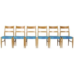Midcentury Swedish Dining Chairs, 1960s, Set of Six