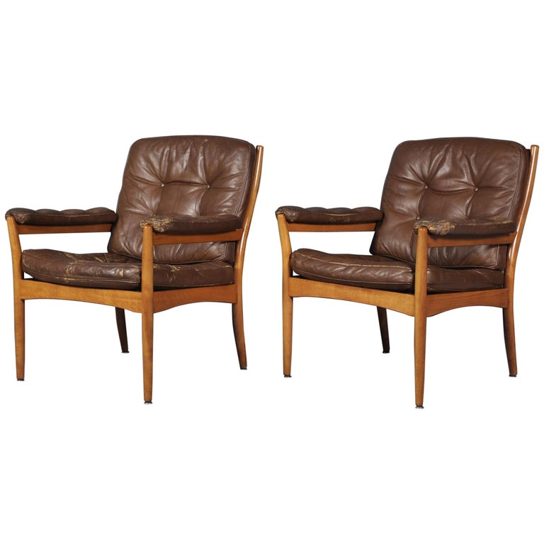 Carmen Easy Chairs from Göte Möbler, 1970s, Set of Two