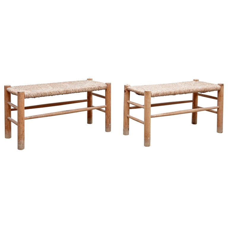 Pair of Bench in the Style of Charlotte Perriand, circa 1960