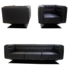Lounge Set by Luigi Pellegrin for MIM Roma, Italy, 1950s