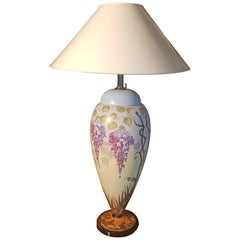 Large Hand-Painted Table Lamp