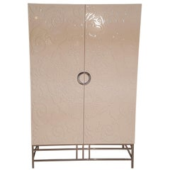 White High Gloss Design Armoire or Cabinet