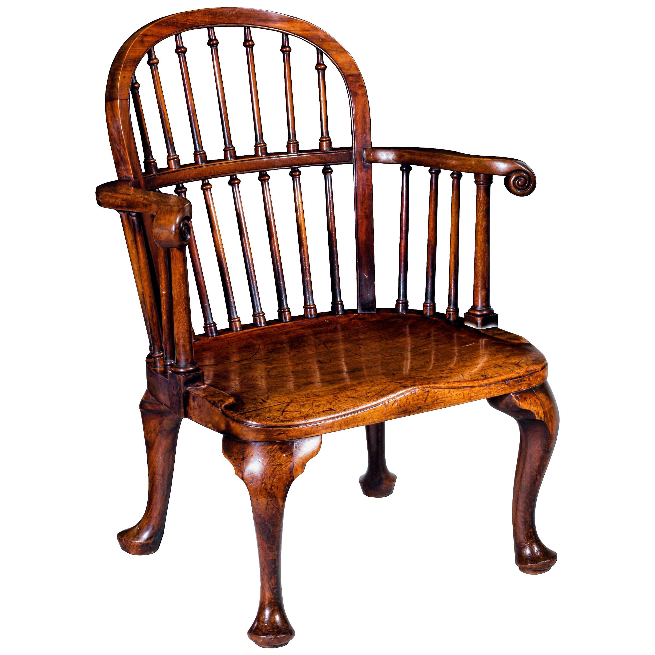 Antique Mahogany Windsor Armchair