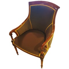 Empire Style Armchair Made of Cherrywood