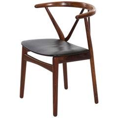 Kjaernulf for Hansen Danish Midcentury Rosewood Hoop Back Chair
