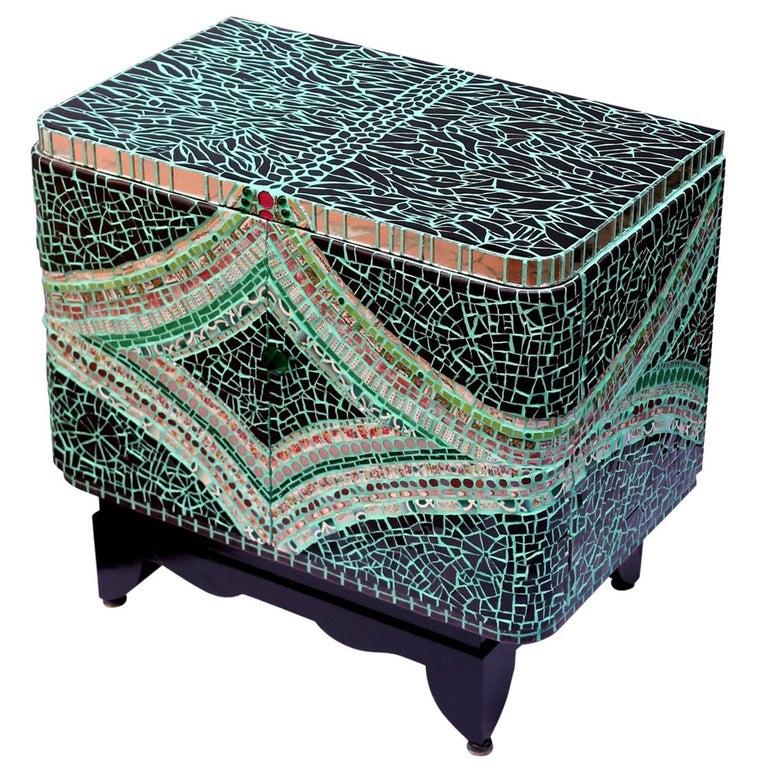 Mosaic Art Deco Cabinet, France