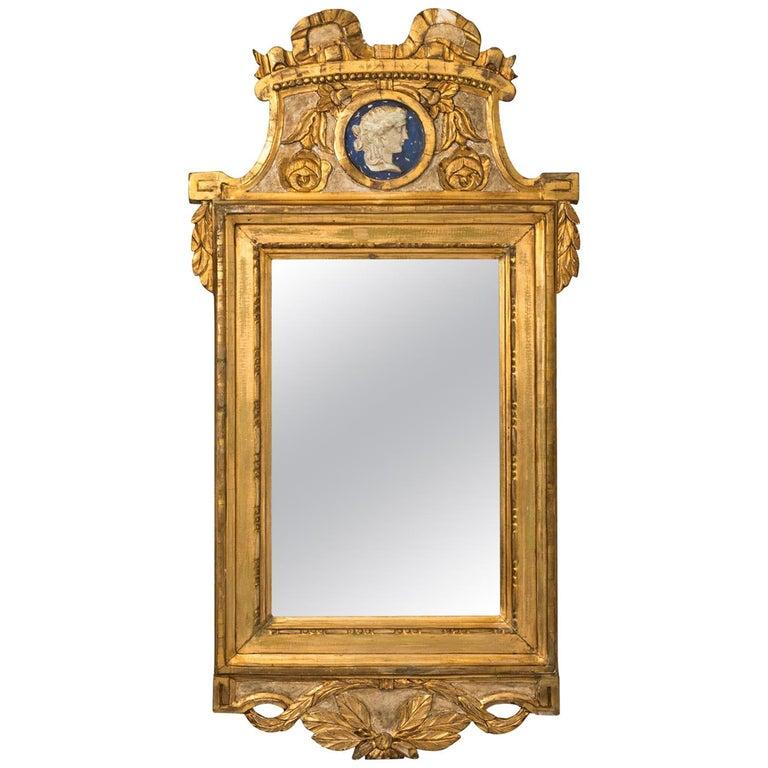 Giltwood Gustavian Mirror