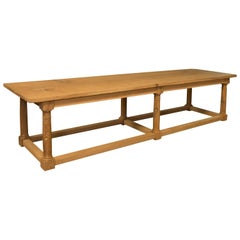 Contemporary Dining Table, Oak Wood
