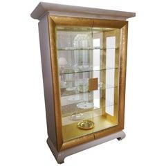 White and Gold Design Glass Vitrine