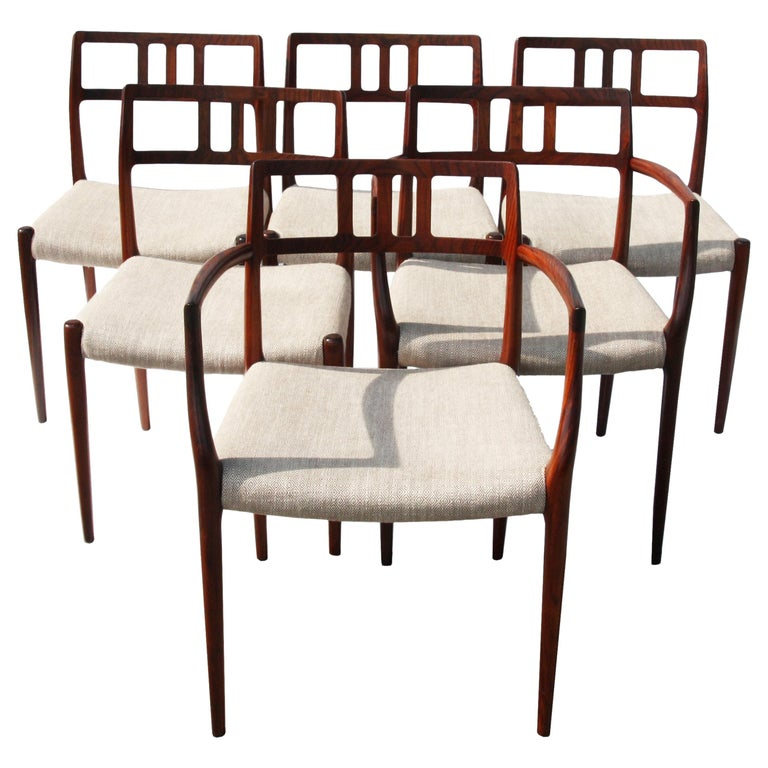 Set of Six Niels Otto Moller Dining Chairs
