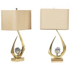 Pair of French 1970s Postwar Design Table Lamps