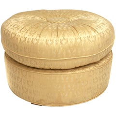 Mid-Century Modern Round Ottoman or Pouf