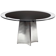 French 1970s Postwar Design Centre / Dining Table
