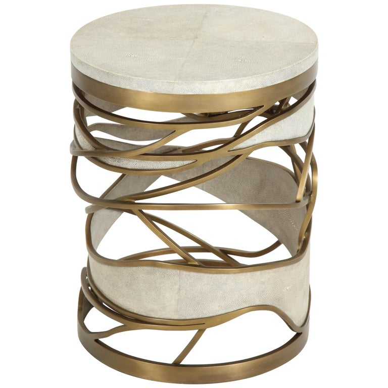 Shagreen Stool or Side Table
