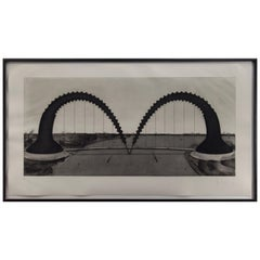 Claes Oldenburg Screwarch Bridge '1980' Etching