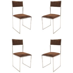 Set of Four Contemporary Italian Post War Design 1970s Side Chairs