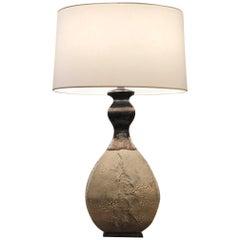 American Postwar Design Textured Bulbous Table Lamp