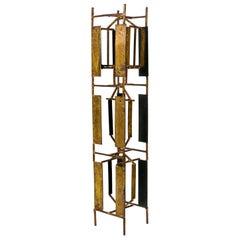 Harry Bertoia Brass Melt Coat Panel Sculpture Maquette for Bank in NYC, 1950s