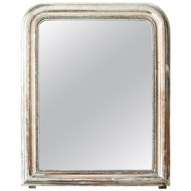 Silvered Louis-Philippe Mirror