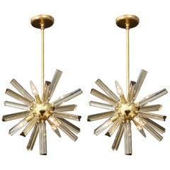 Pair of Small Sputnik Chandeliers