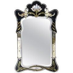 Venetian Art Nouveau Style Midcentury Mirror