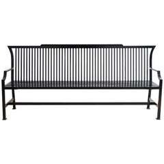 Contemporary Aluminum Park Bench or Settle