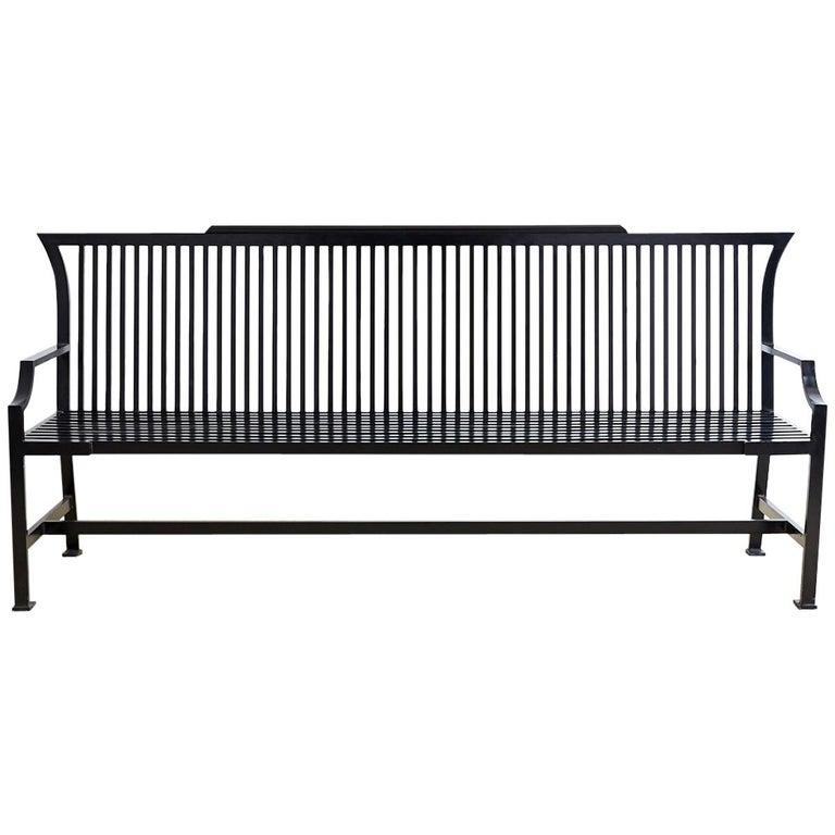 Contemporary Aluminum Park Bench or Settle