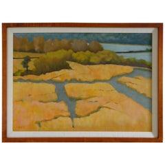 """Glowing Marsh"", Oil on Canvas"