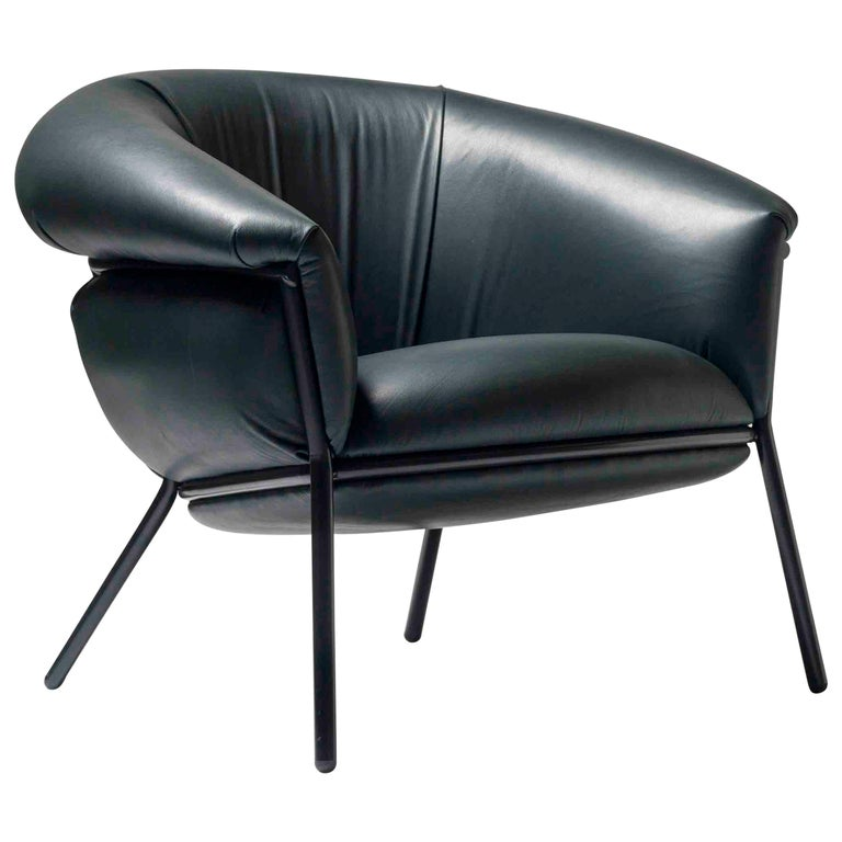 Grasso Armchair in Green Leather by BD Barcelona