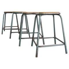 Stacking French Industrial Stools, circa 1950s