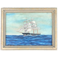 Gilt Frame with Ship Painting