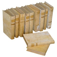 18th Century Set of Italian Vellum Books