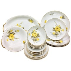 """1950s Japanese Porcelain """"Cotillion"""" Dinnerware Set of 24 Pieces"""