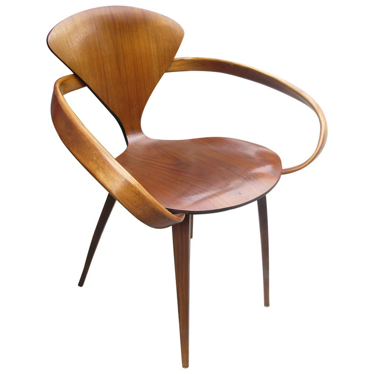 Norman Cherner for Plycraft Walnut Armchair