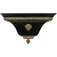 Early 18th Century French Louis XIV Period Black Lacquer and Bronze Wall Sconce