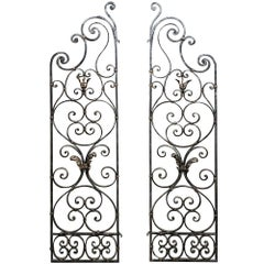 Pair of 19th Century Country French Wrought Iron Garden Gates