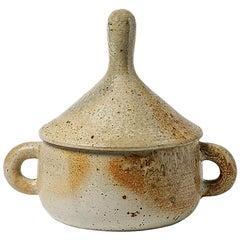 Stoneware Covered-Pot by Jean Lerat to La Borne, circa 1970