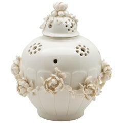Porcelain Pot-Pourri Vase in the Style of Saint-Cloud by Didier Gardillou