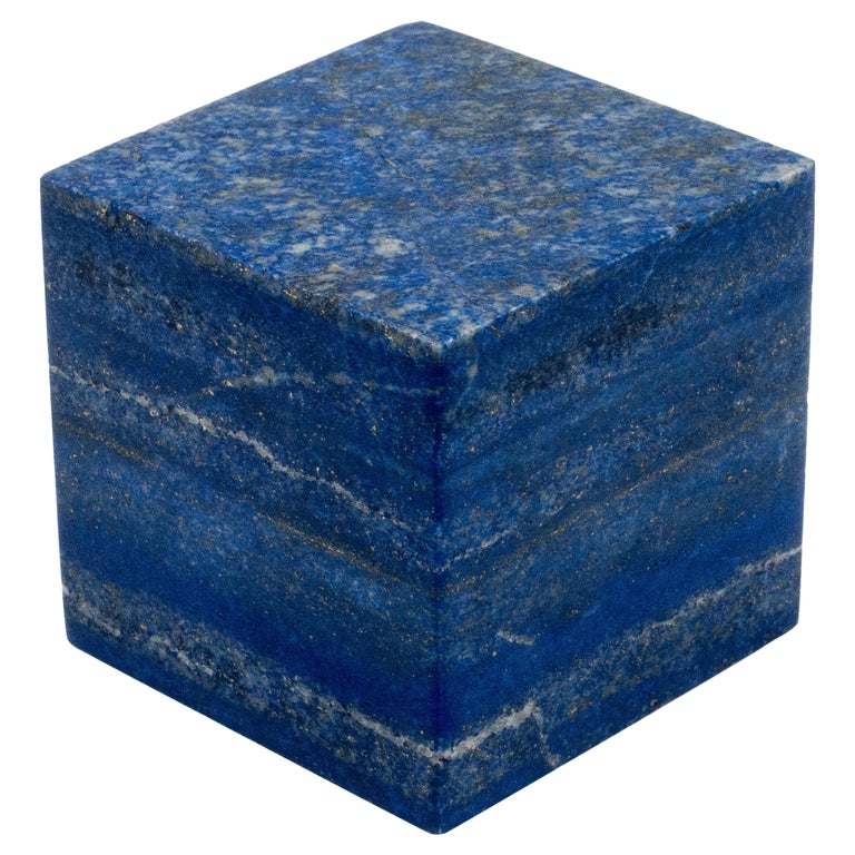 Lapis Lazuli Cube from Afghanistan