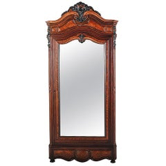 French Louis Philippe Rosewood Armoire