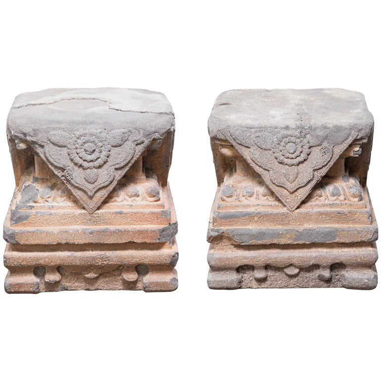 Pair of Early 17th Century Chinese Ming Column Bases For Sale