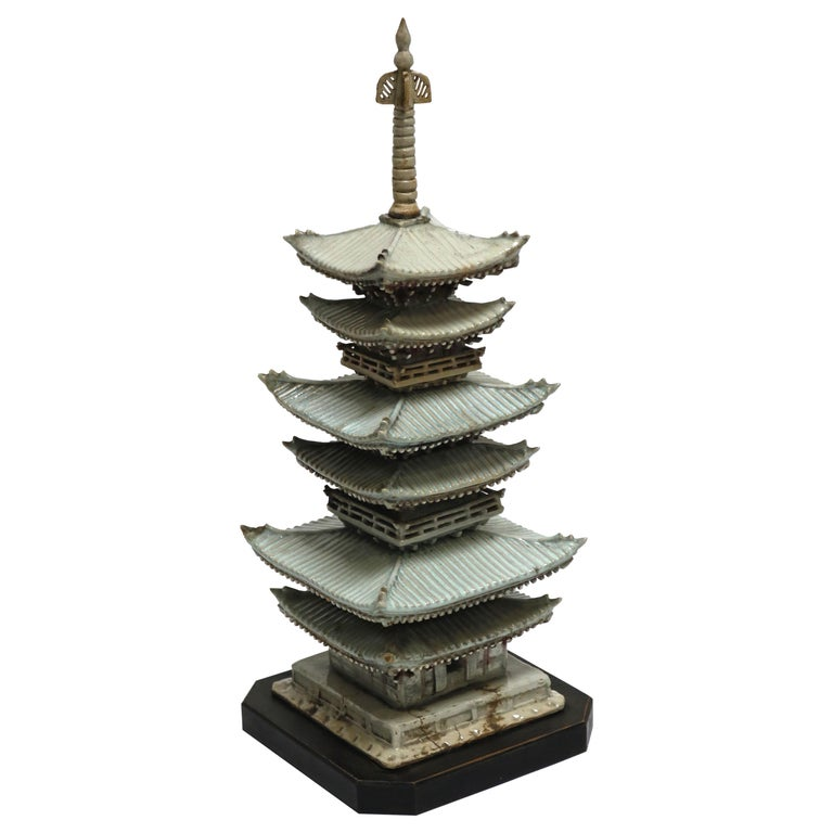 Celadon Ceramic Pagoda from Japan, 18th Century
