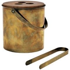 Ice Bucket Set by Arne Jacobsen for Stelton Brassware, 1960s