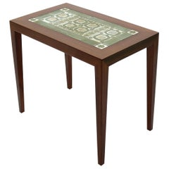 1960s Rosewood Side Table by Severin Hansen Jr for Haslev Mobelfabrik