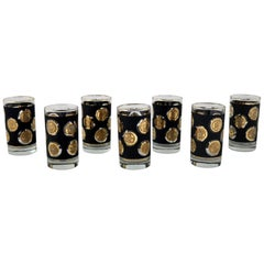 Libbey Gold Coin Collection USA Beverage Cocktail Glasses Set of Seven