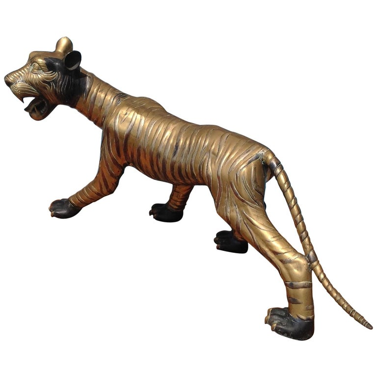 Enormous Midcentury Figure of a Tiger For Sale