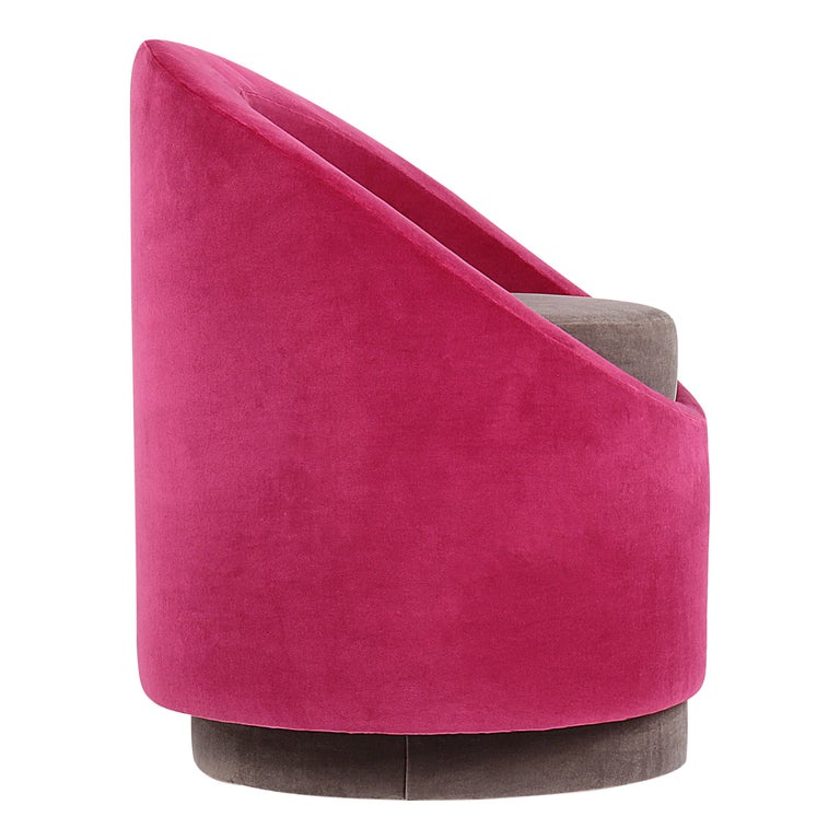 Paradisoterrestre All Around Chair in Pink Velvet by Pierre Gonalons