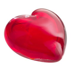 Salviati Cuore Extra Small Coccole Vase in Red by Maria Christina Hamel